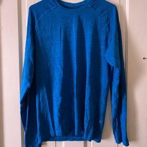 Lululemon blue long sleeve workout shirt